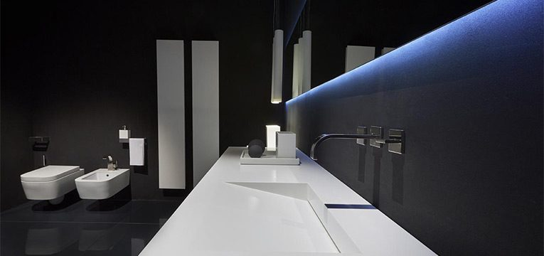 lavabo en corian pour la salle de bains design bath kitchen blog. Black Bedroom Furniture Sets. Home Design Ideas